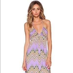 T Bags Los Angeles Braided Halter Maxi Dresd
